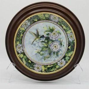 Wood Framed Danbury Mint Hummingbird Passionfruit
